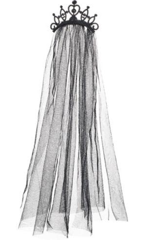 Tiara with Black Veil