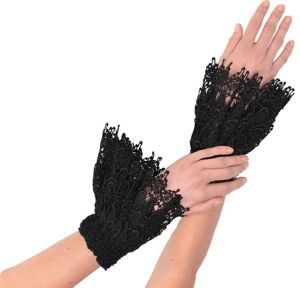 Black Lace Cuffs 2ct
