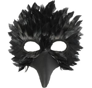 Black Crow Feather Mask