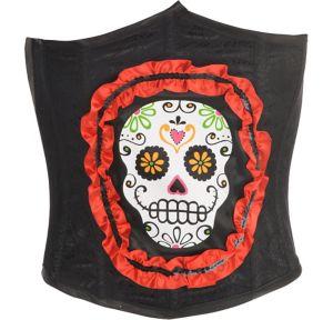 Sugar Skull Waist Cincher - Day of the Dead