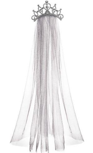 Tiara with Gray Veil