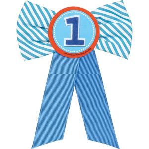 Blue 1st Birthday Award Ribbon