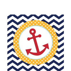 Ahoy Nautical Lunch Napkins 18ct