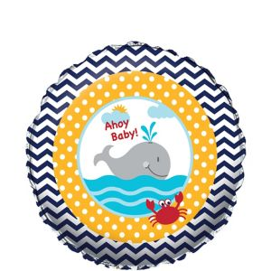 Ahoy Nautical Baby Shower Balloon