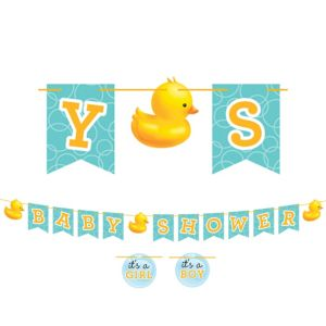 Bubble Bath Baby Shower Letter Banner