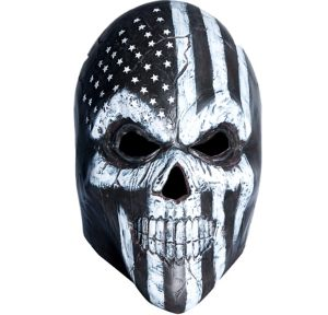 Black & White Scary American Flag Mask