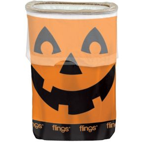 Jack-o'-Lantern Flings® Pop-Up Trash Bin