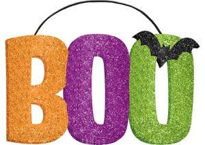 Glitter Boo Sign