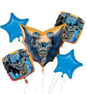 Cape Batman Balloon Bouquet 5pc