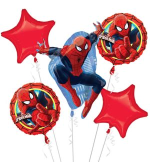 Spider-Man Balloon Bouquet 5pc
