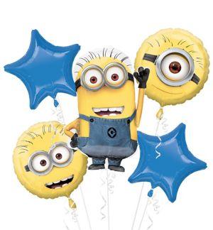 Minion Balloon Bouquet 5pc - Despicable Me