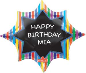 Chalkboard Starburst Balloon - Giant Personalized