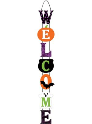 Halloween Stacked Welcome Sign