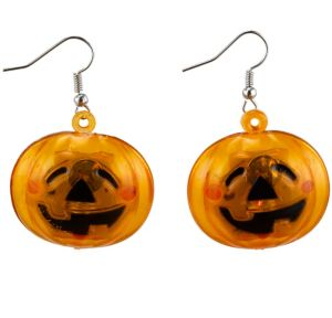 Light-Up Jack-o'-Lantern Earrings
