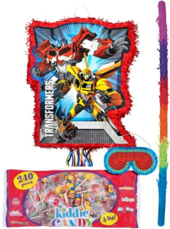 Red Transformers Pinata Kit