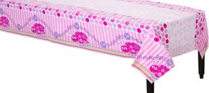 Pink Ladybug 1st Birthday Table Cover
