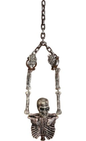 Hanging Shackled Skeleton Torso