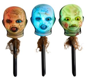 Light-Up Zombie Doll Yard Stakes 3ct