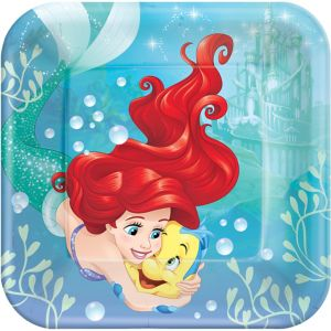 Little Mermaid Lunch Plates 8ct