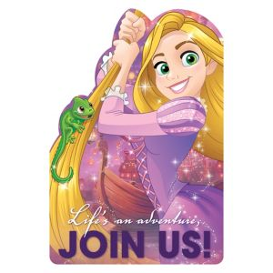 Rapunzel Invitations 8ct