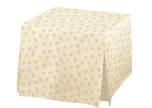 Fall Flannel-Backed Vinyl Fitted Table Cover