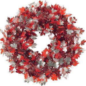 Fall Leaves Tinsel Wreath
