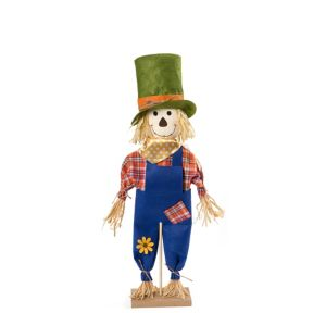 Friendly Standing Scarecrow Decoration