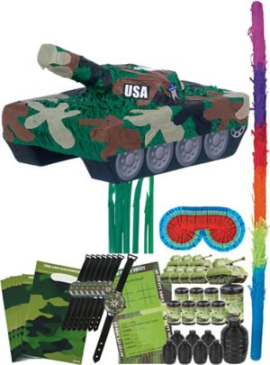 Tank Pinata Kit with Favors
