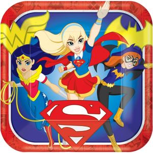 DC Super Hero Girls Lunch Plates 8ct