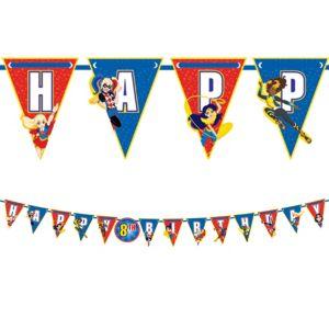 DC Super Hero Girls Birthday Pennant Banner Kit