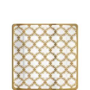 Metallic Gold Moroccan Dessert Plates 8ct