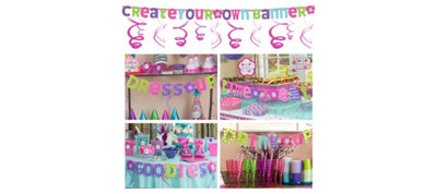 Pastel Create Your Own Banner Kit