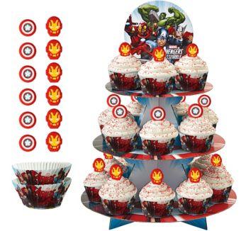 Deluxe Avengers Cupcake Kit for 24
