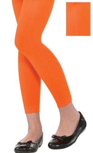 Child Orange Footless Tights