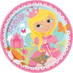 Woodland Fairy Birthday Lunch Plates 8ct