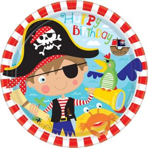 Little Pirate Lunch Plates 8ct