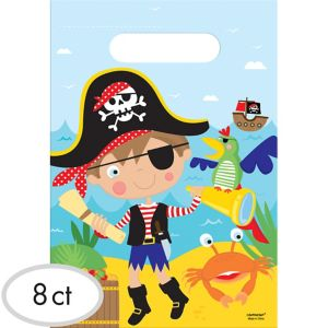 Little Pirate Favor Bags 8ct