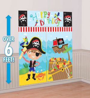 Little Pirate Birthday Scene Setter