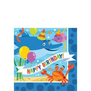 Under the Sea Birthday Beverage Napkins 16ct