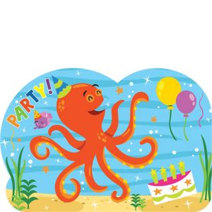 Under the Sea Birthday Invitations 8ct
