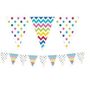 Bright Patterned Pennant Banner