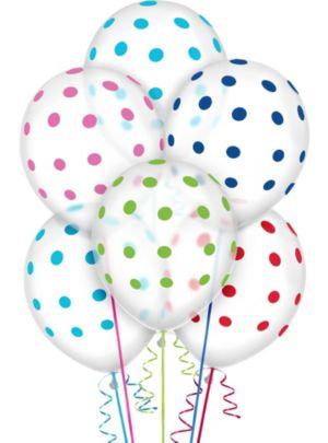 Transparent & Bright Polka Dot Balloons 20ct