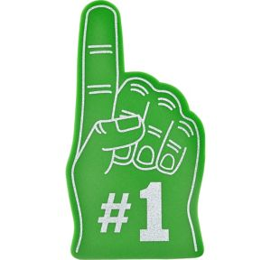 Green #1 Foam Finger