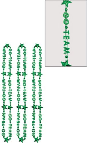 Green Go Team Bead Necklaces 3ct