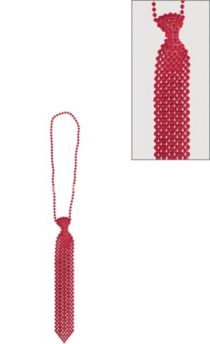 Red Tie Bead Necklace