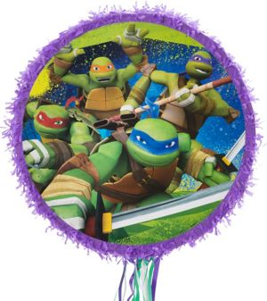 Pull String Purple Teenage Mutant Ninja Turtles Pinata