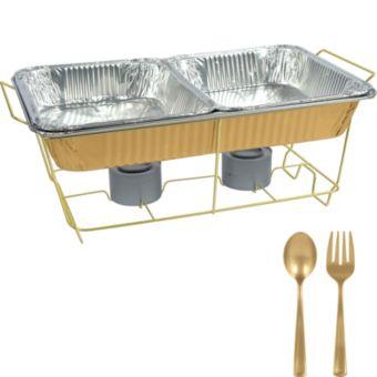 Gold Chafing Dish Buffet Set 8pc