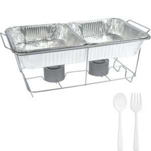 White Chafing Dish Buffet Set 8pc