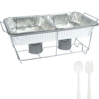White Chafing Dish Buffet Set 8pc