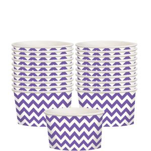 Purple Chevron Paper Treat Cups 20ct